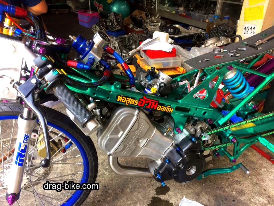 modifikasi motor sonic drag mothai thailook style