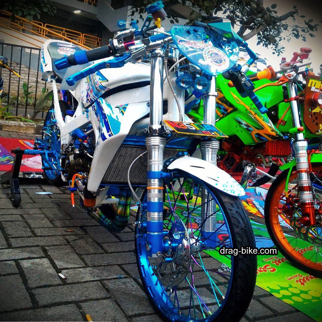 modifikasi ninja 2 tak street racing kontes