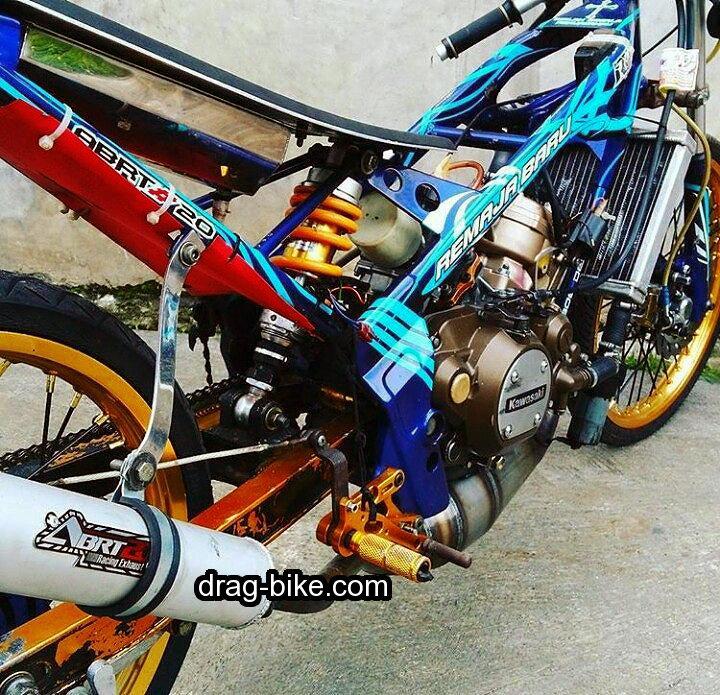 modifikasi ninja r balap motor drag