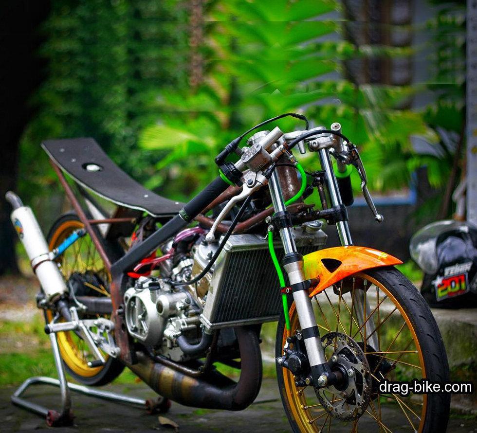 modifikasi ninja r drag bike tercepat