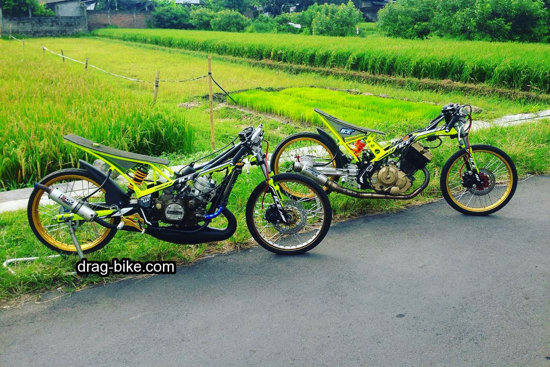 modifikasi ninja r motor drag bike