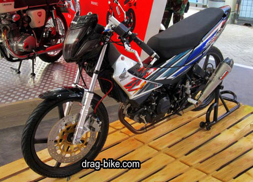 modifikasi honda sonic 125 drag bike