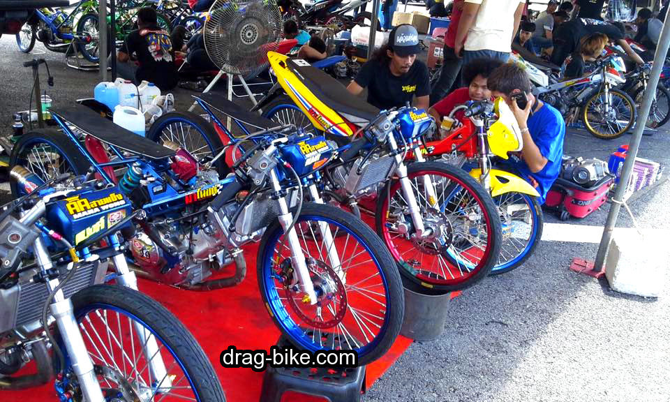 motor honda sonic drag bike thailand