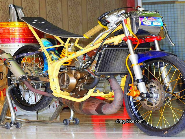 motor ninja balap drag bike modif
