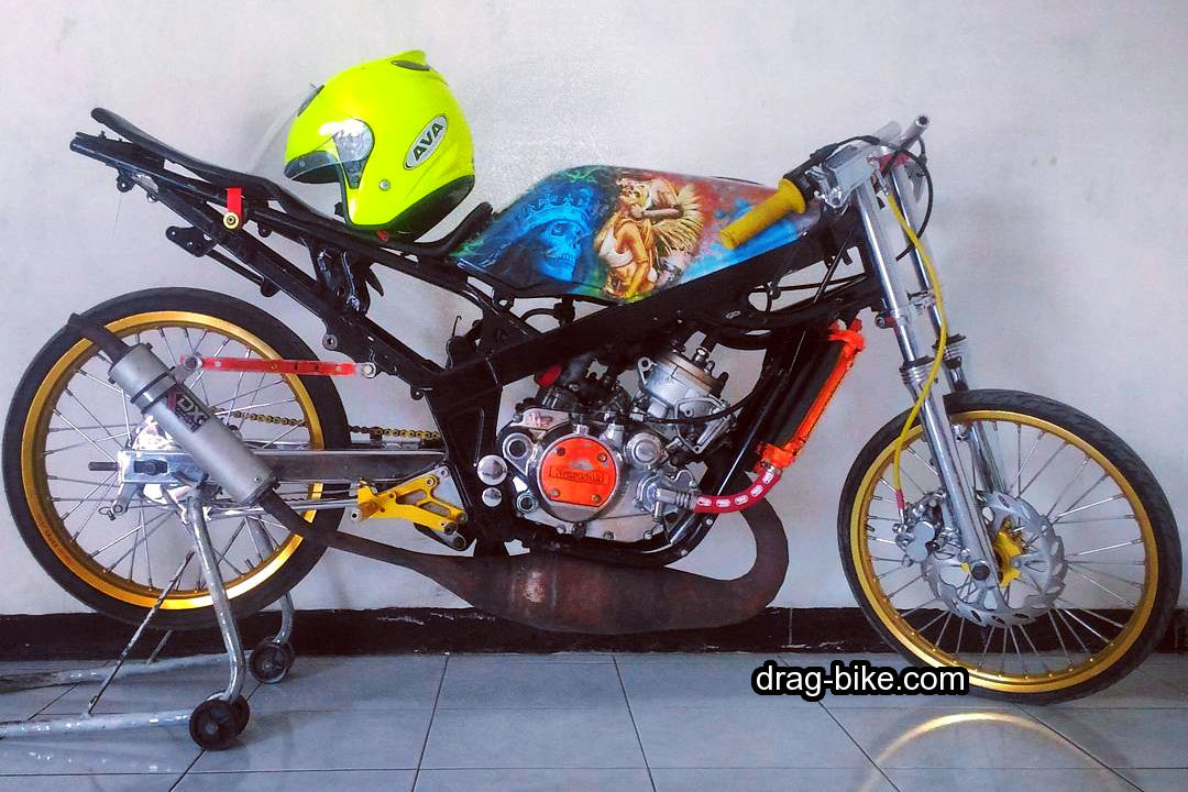 motor ninja modifikasi balap drag