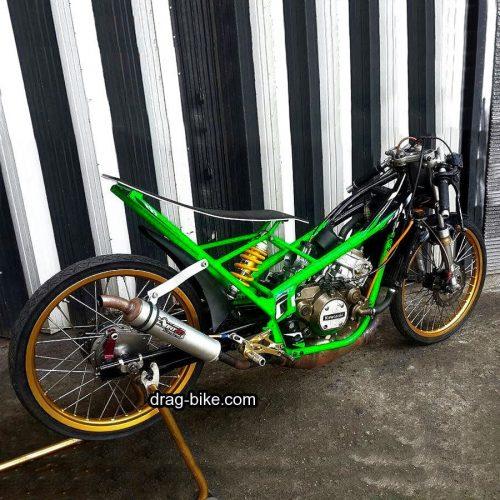 Foto Drag Motor Ninja Rr Modif Balap