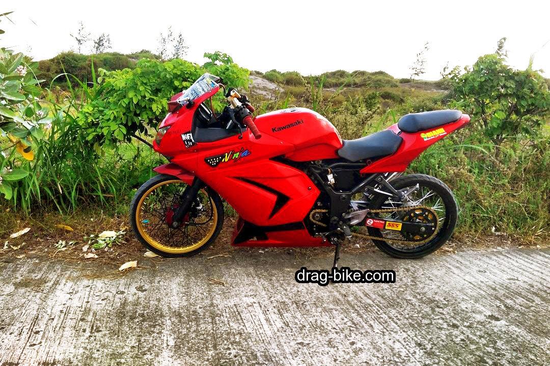 Foto Modifikasi Motor Ninja 4 Tak Velg Jari Jari