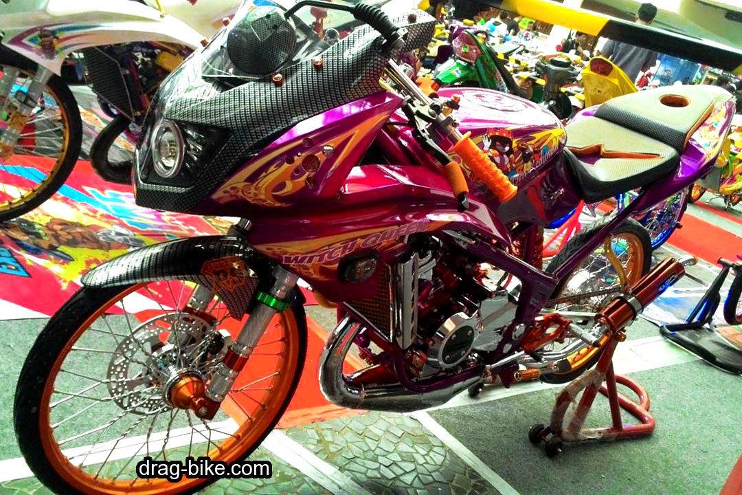 Foto Modifikasi Motor Ninja RR Kontes
