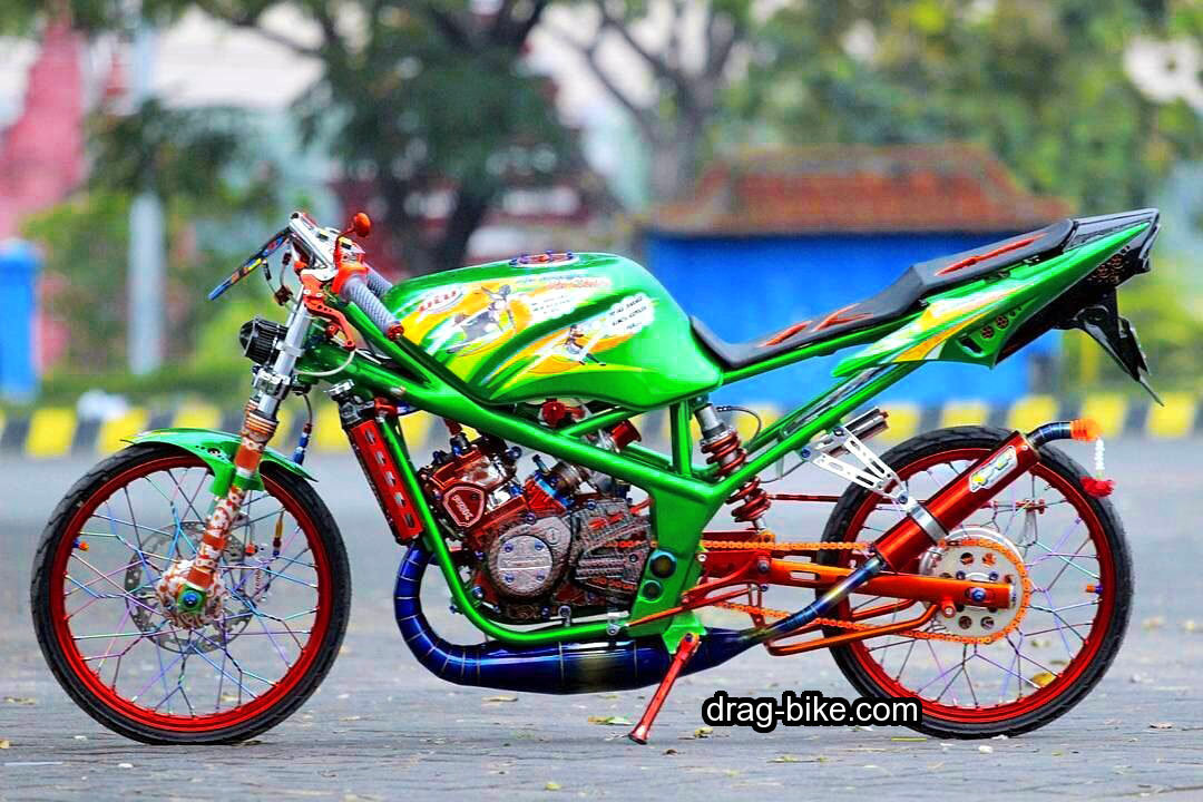 Foto Modifikasi Ninja RR Modif Drag