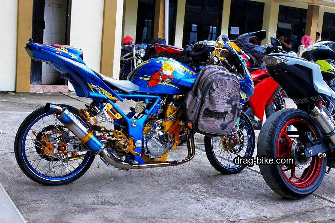 Foto Motor Drag Ninja 4 Tak 250 Airbrush
