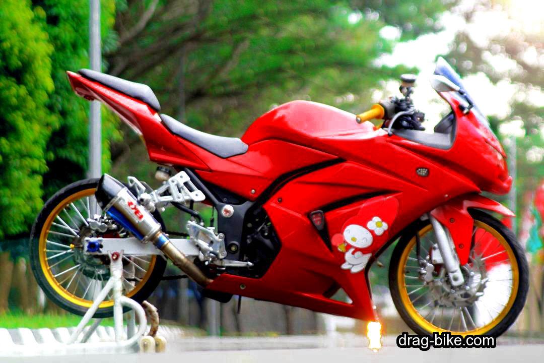 Foto Motor Ninja 4 Tak Modifikasi Ban Kecil