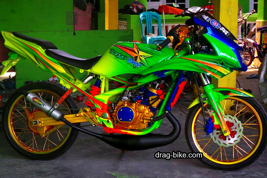 Gambar Modifikasi Motor Ninja RR Drag Mothai Style