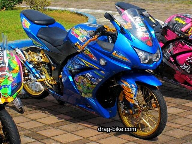 Gambar Modifikasi Ninja 4 Tak 250 cc