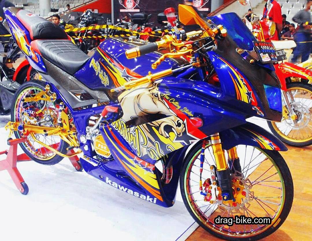 Gambar Motor Ninja RR Modifikasi Ayam Jago Thailand
