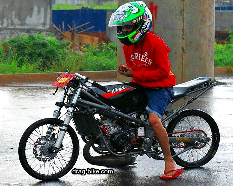 Modifikasi Drag Motor Ninja Rr