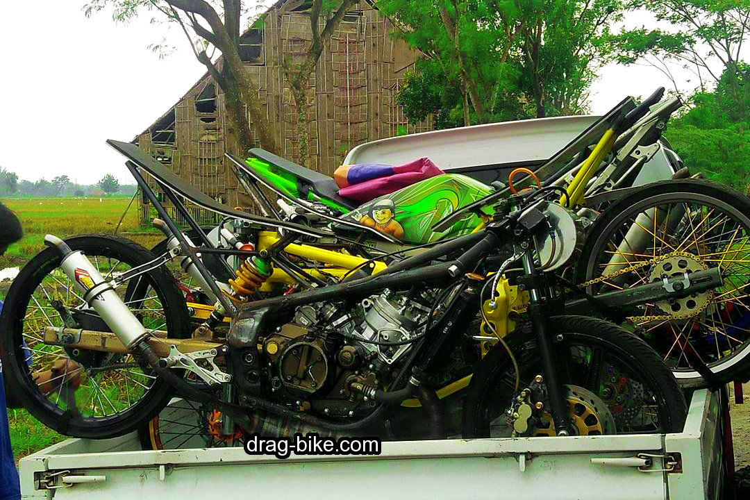 Modifikasi Motor Drag Ninja 2 Tak 150