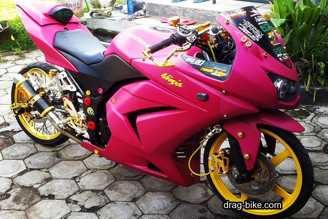 Modifikasi Motor Ninja 250 4 Tak Modif Warna Pink
