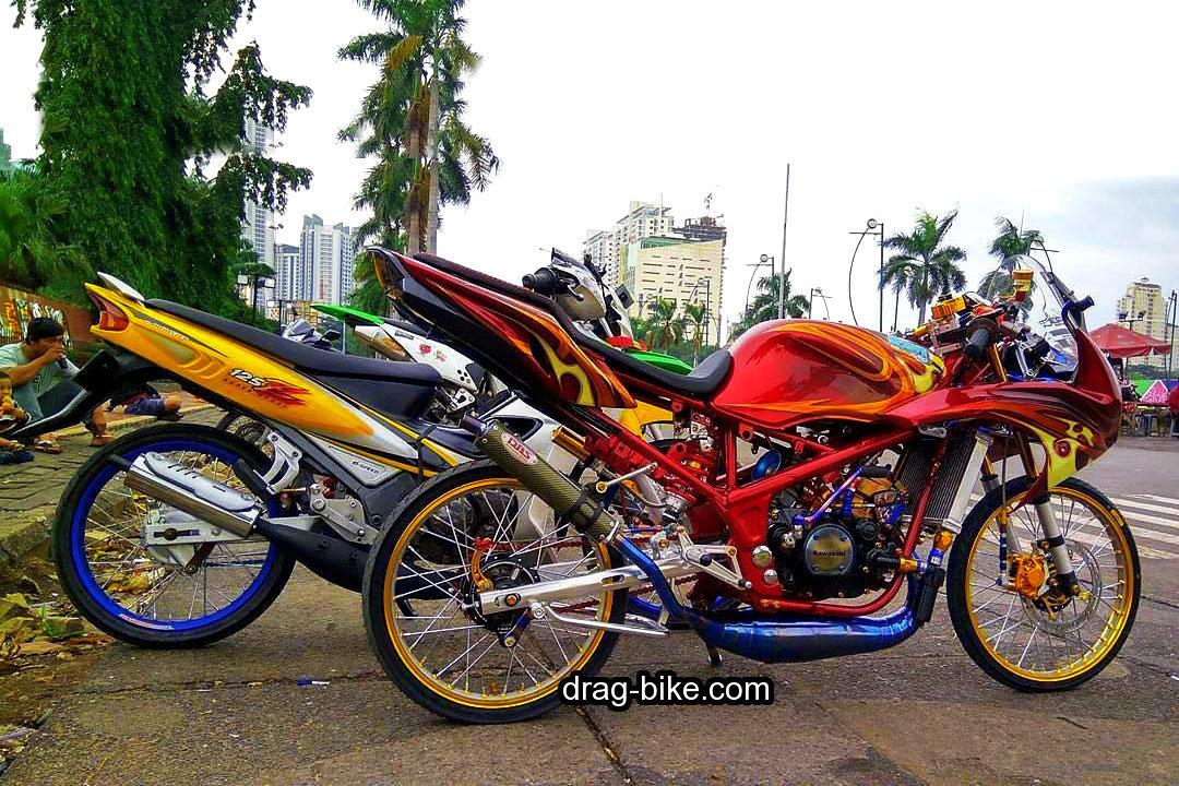 55 Foto Gambar Modifikasi Ninja Rr Kontes Street Racing Drag Bike Com