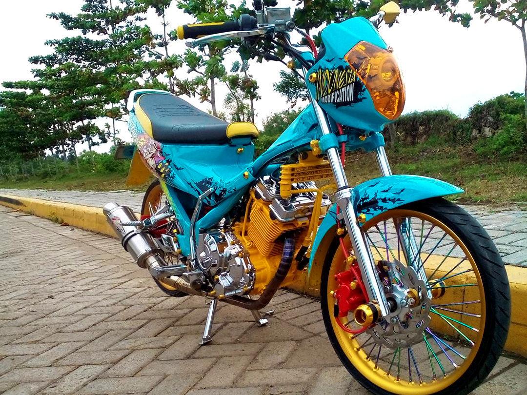 Modifikasi Motor Suzuki Satria Fu Terkeren
