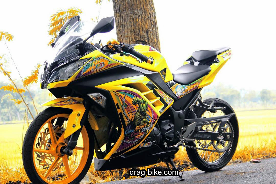 Modifikasi Ninja 250 Fi 4 Tak Simple Modif Warna Kuning