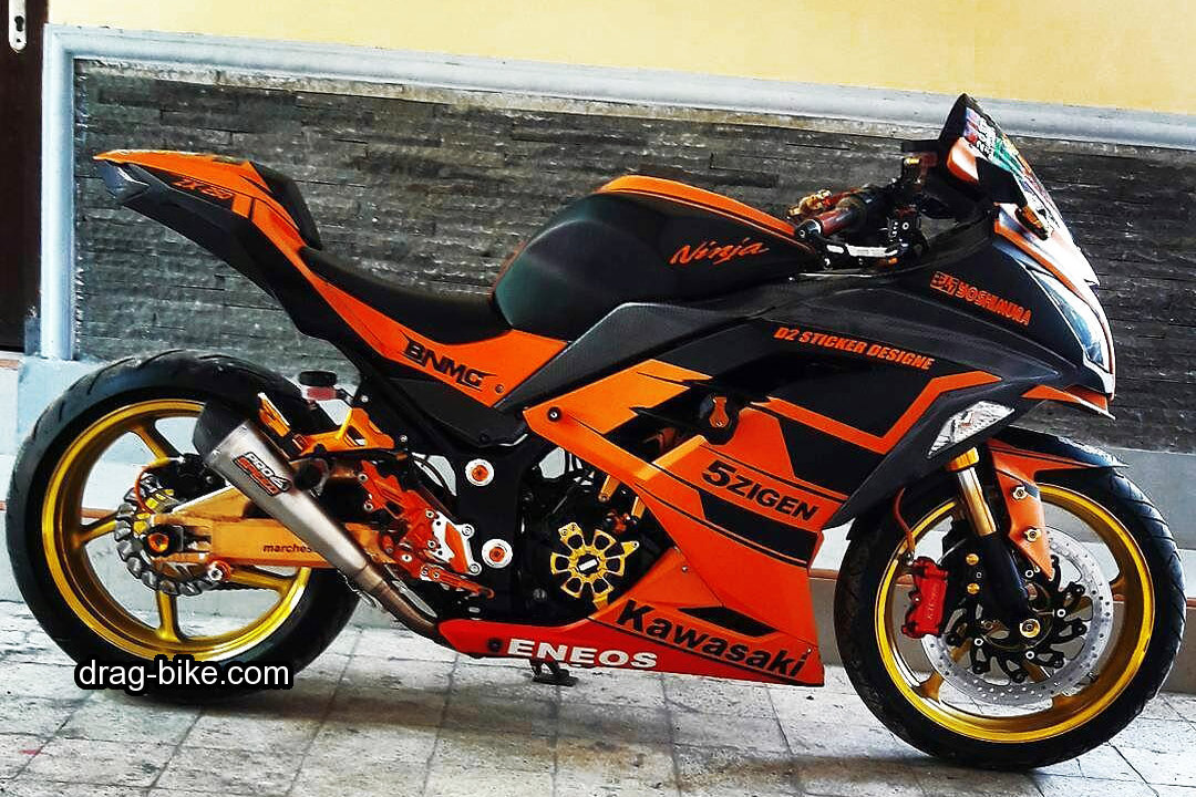 Modifikasi Ninja 250 fi 4 Tak Cutting Sticker