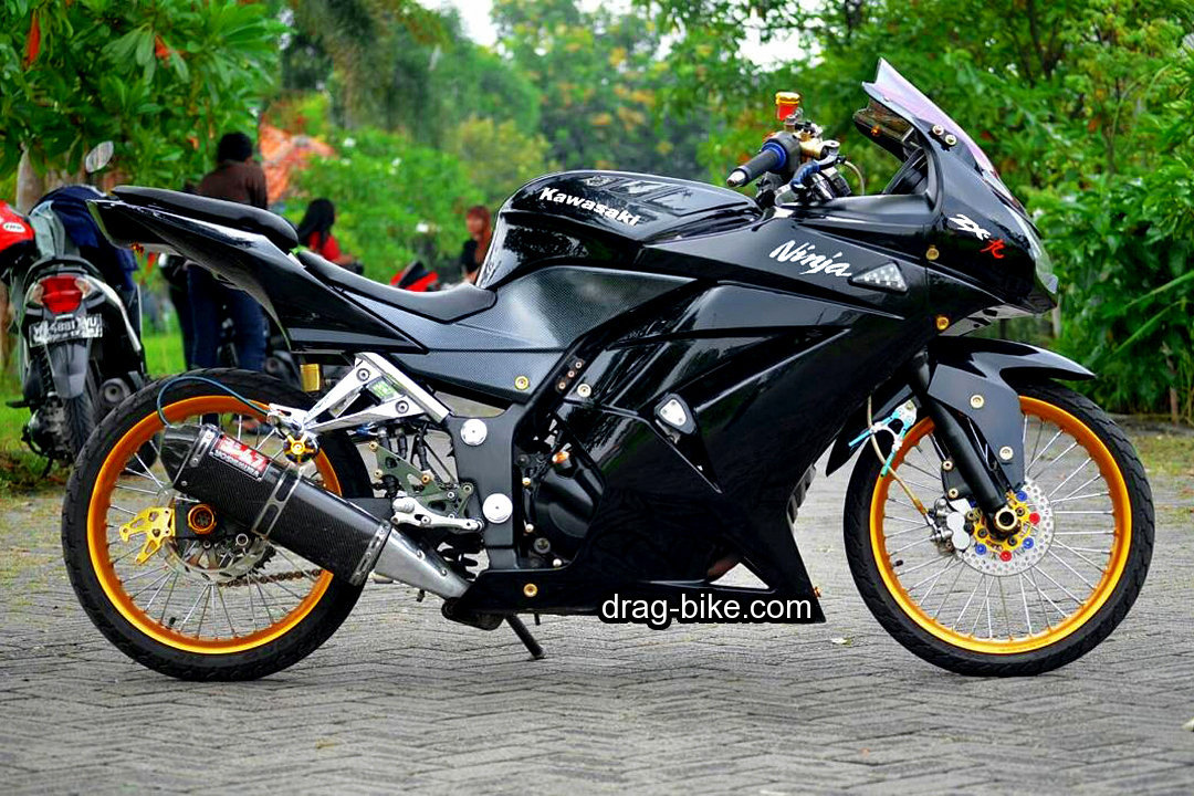Modifikasi Ninja 4 Tak Modif Jari Jari Street Racing Warna Hitam