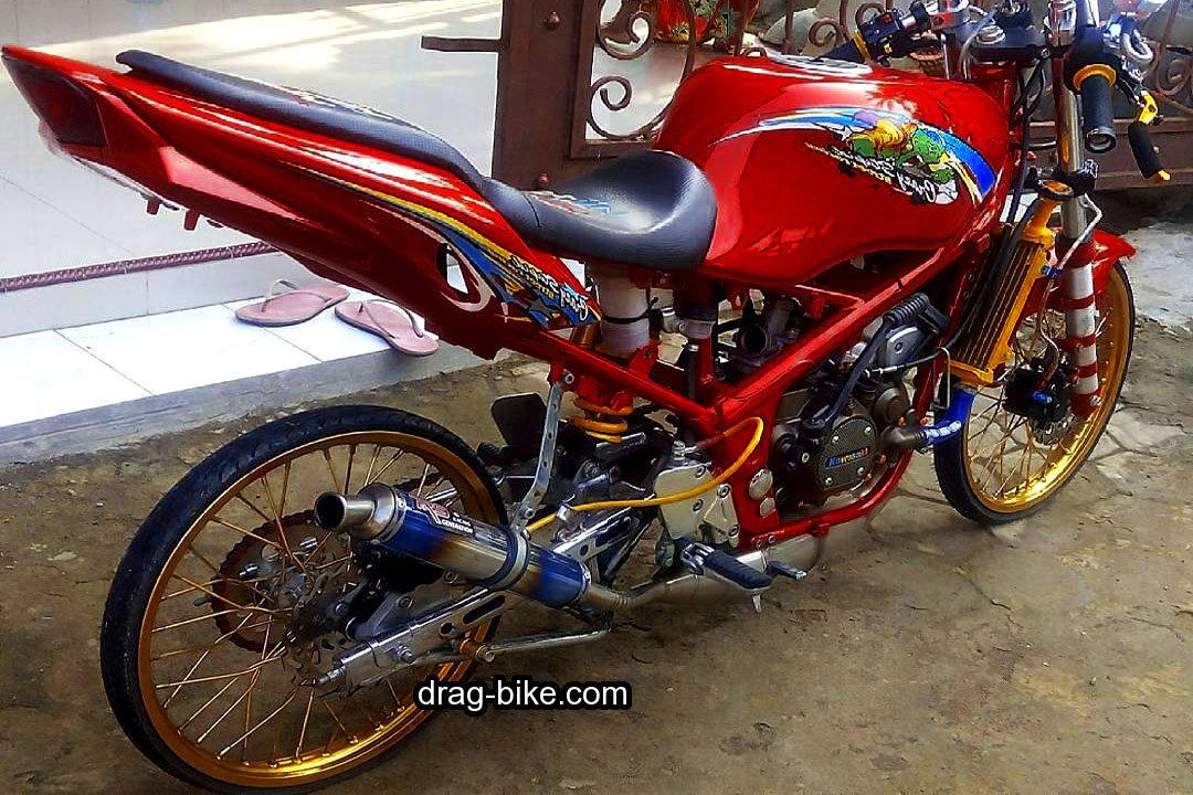 Modifikasi Ninja Jari Jari Racing Thailand Warna Merah Marun