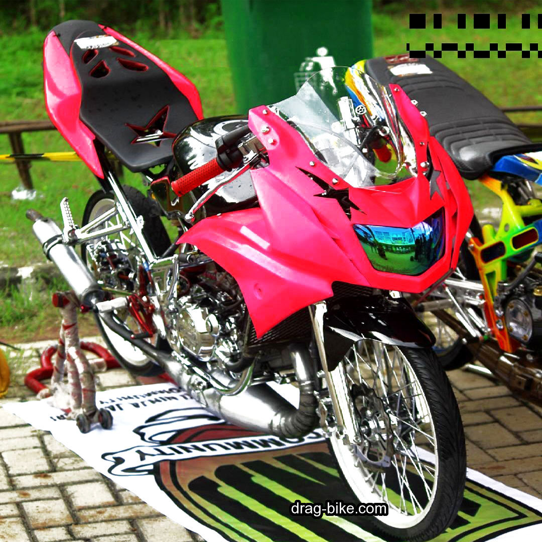Modifikasi Ninja RR Jari Jari Simple Warna Pink