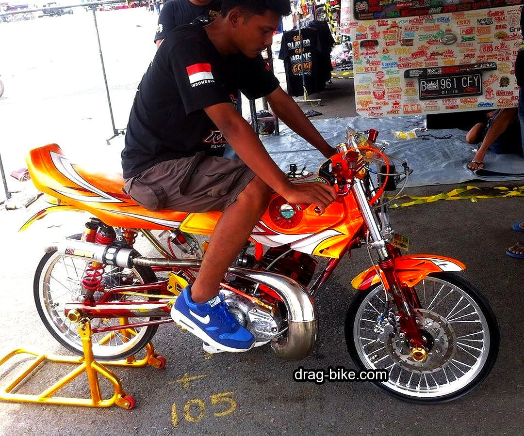 Modifikasi Rx King Drag Bike Knalpot Udang