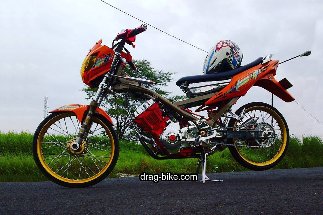 Modifikasi Satria Fu Drag Bike
