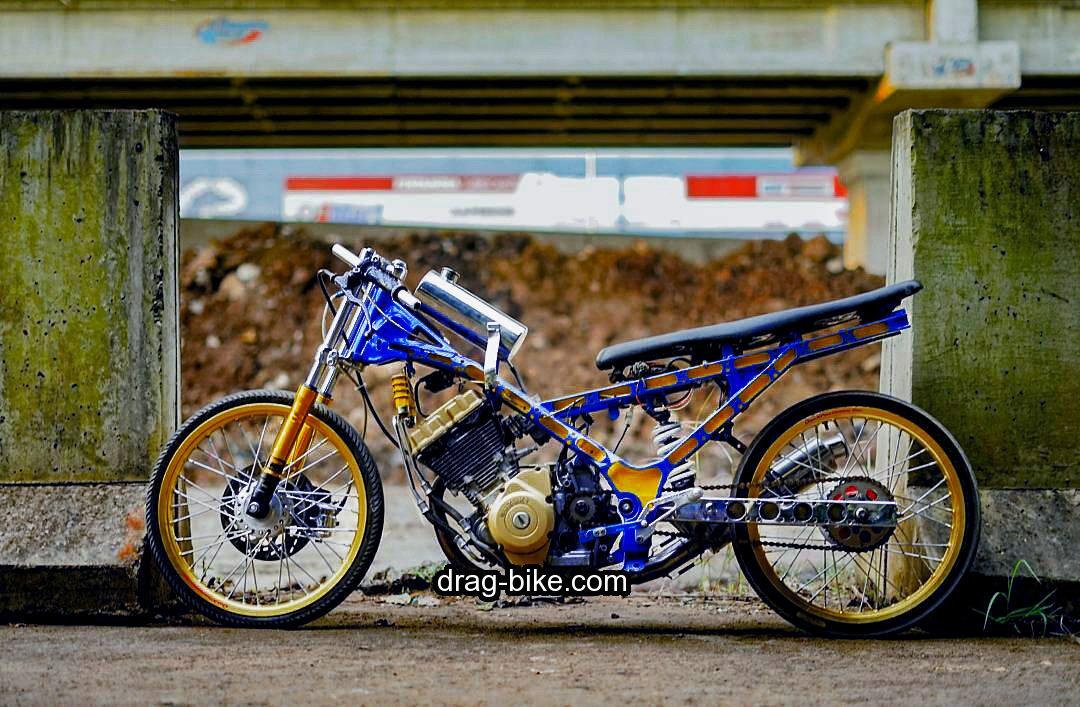 45 Foto Gambar Modifikasi Motor Satria Fu Drag Race Style Drag Bike Com