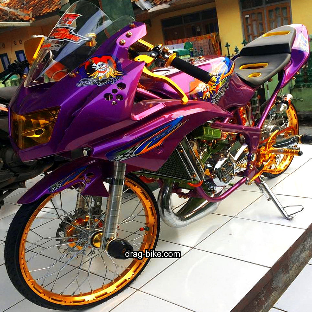 55 foto gambar modifikasi ninja rr kontes street racing drag-bike