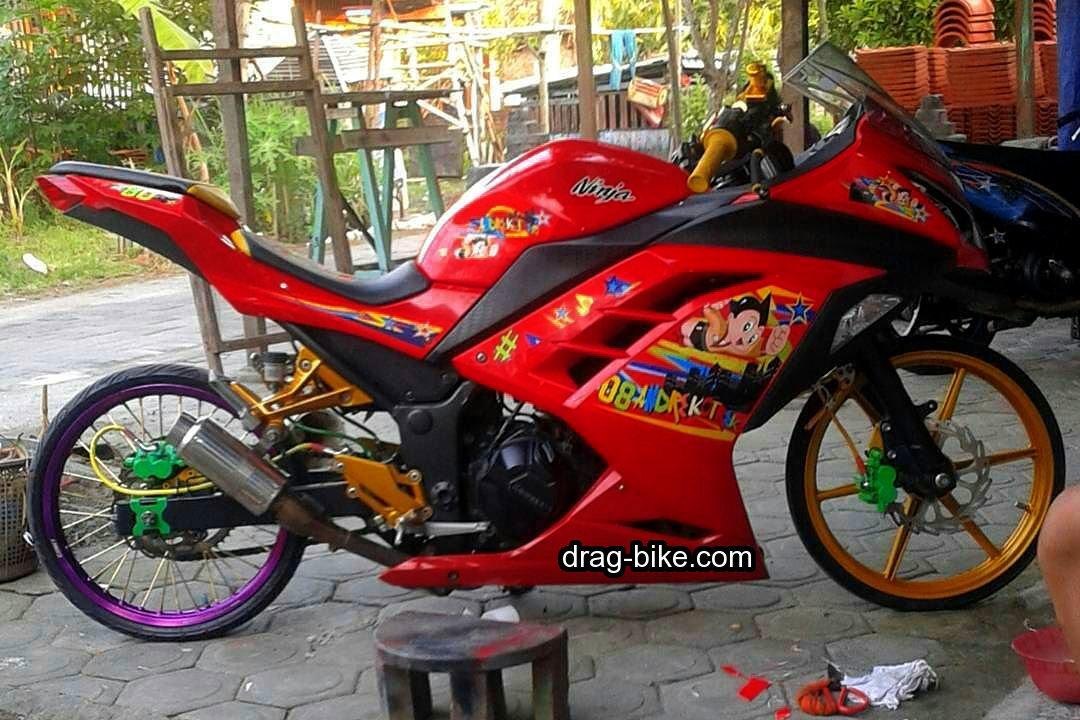 Motor Ninja 250 Fi Modifikasi Warna Merah