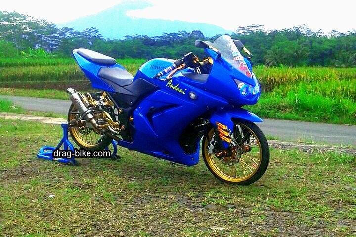 Motor Ninja 250 Modifikasi Ban Kecil