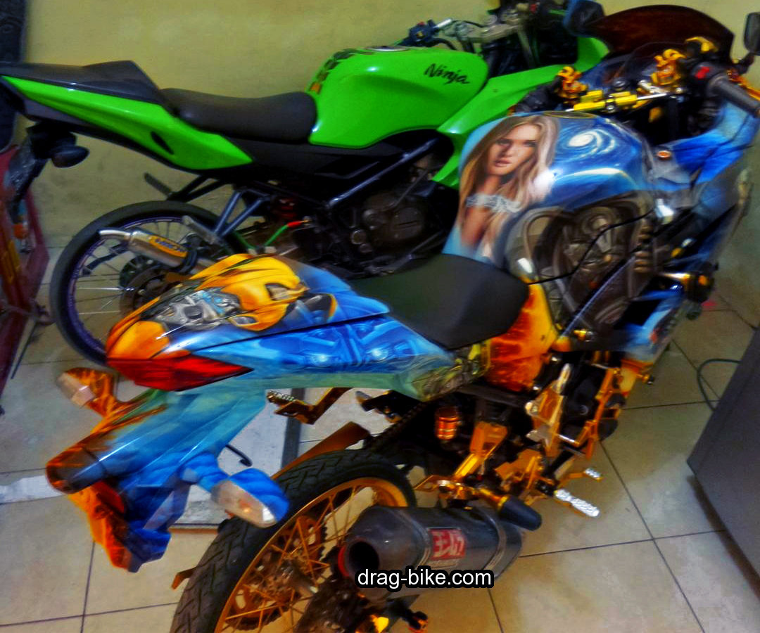 Motor Ninja 250 Modifikasi Full Airbrush