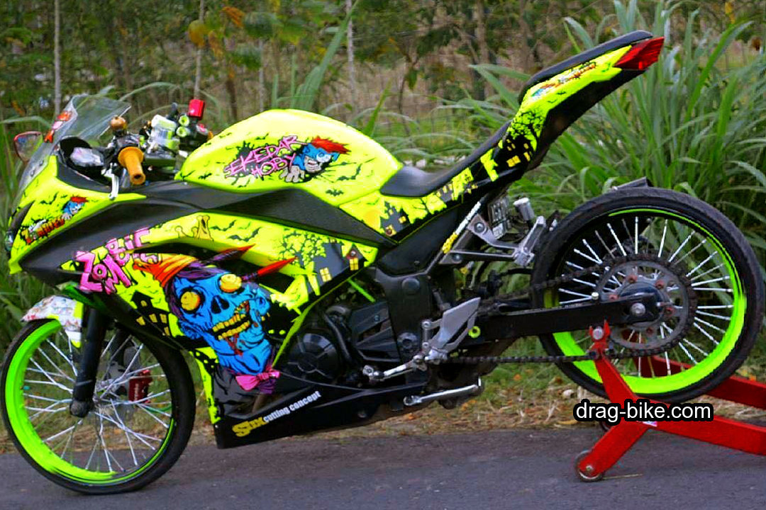 Motor Ninja 250 Modifikasi Jari Jari Cutting Sticker