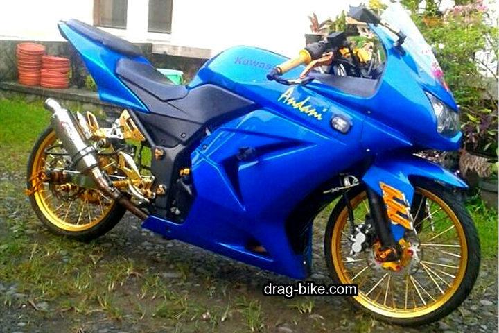 Motor Ninja 4 Tak Modif Street Racing Kontes Warna Biru
