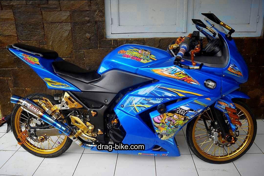 Motor Ninja 4 Tak Modifikasi Cutting Sticker