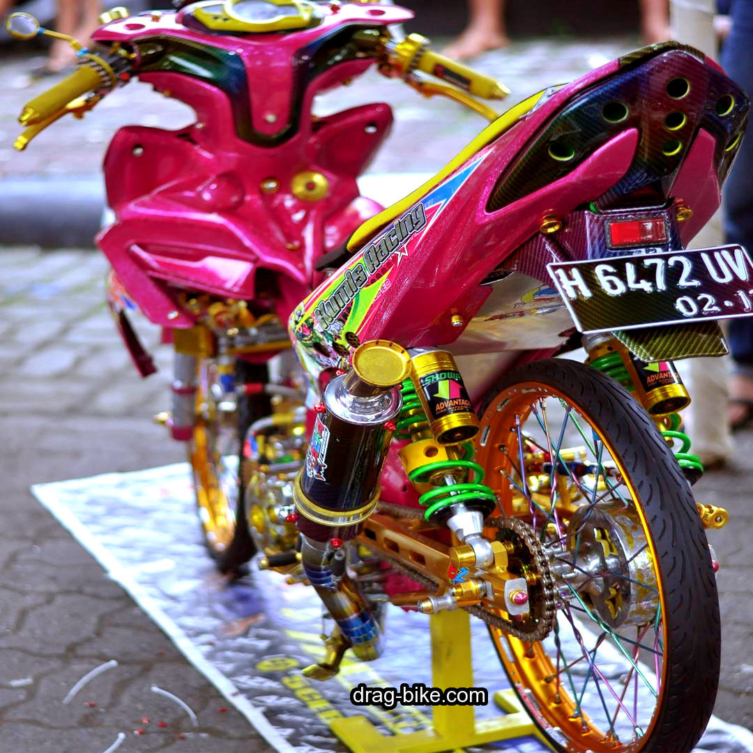 Modifikasi Motor Jupiter Z Merah