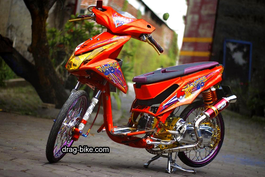 foto gambar modifikasi beat kontes street racing jari