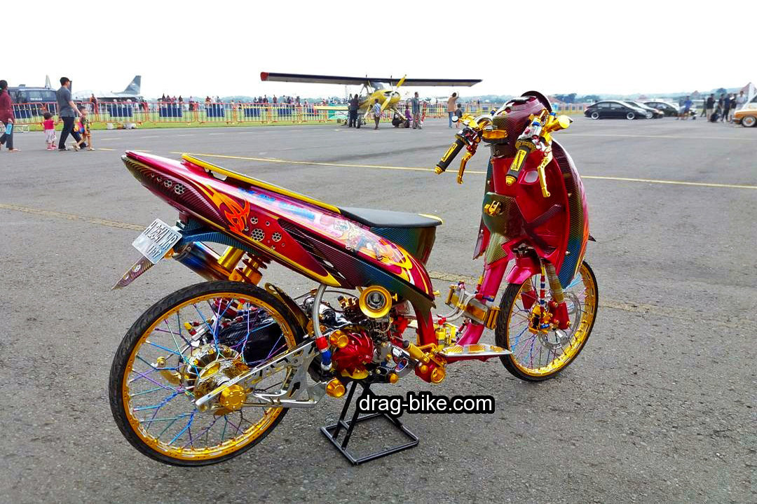 Modifikasi Stang Vario Drag Racing Mothai Thailand