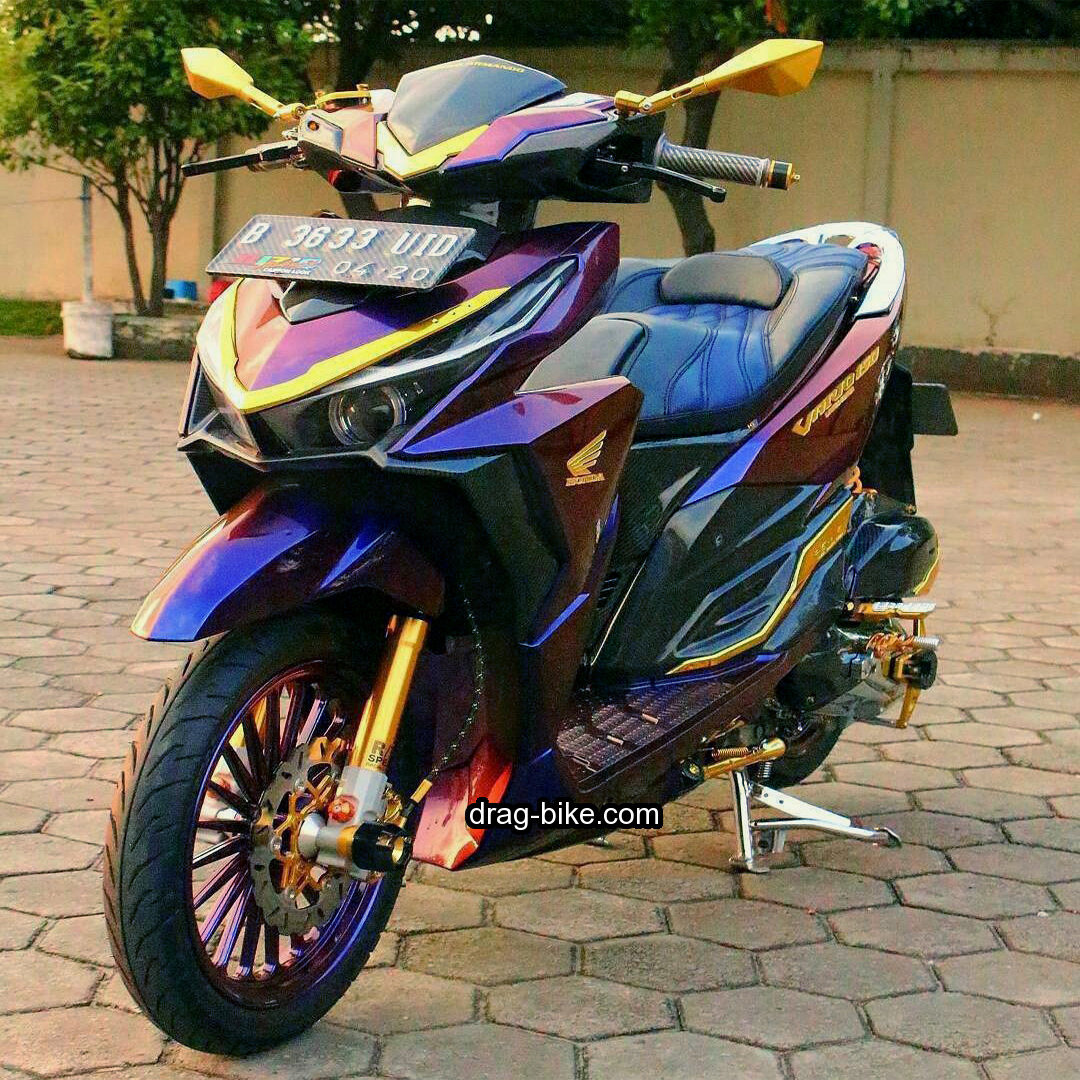 Modifikasi Vario 150 Hitam Cat Bunglon