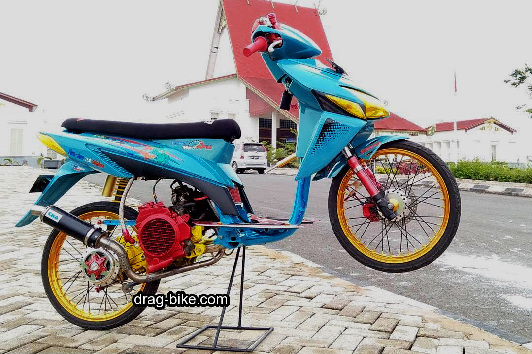 Modifikasi Vario 2009 Drag