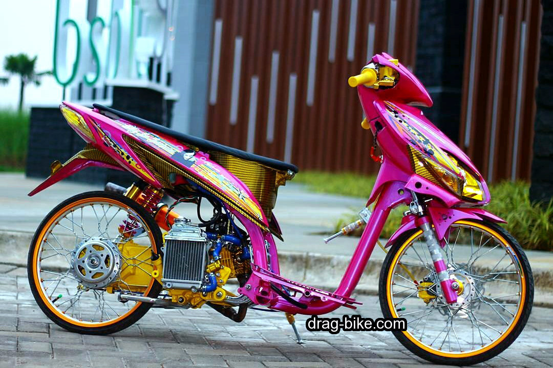 Modifikasi Vario Exclusive Merah Pink