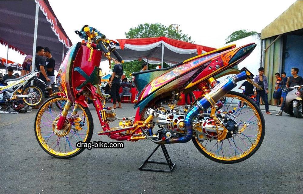 Motor Vario Modifikasi Street Racing Bodi Depan Scoopy