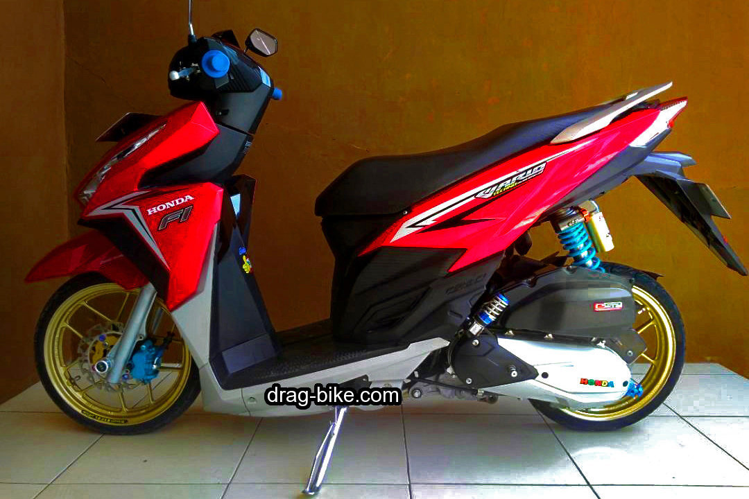 Variasi Vario 125 Modif Ring 14 Warna Merah