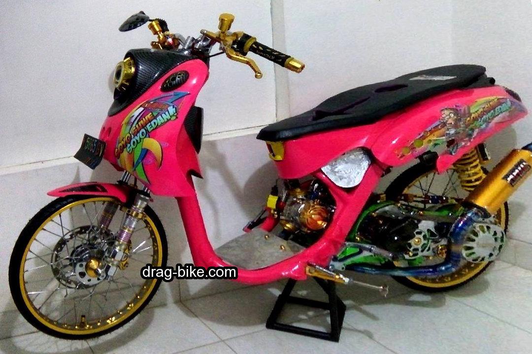 Gambar Yamaha Fino Drag Racing