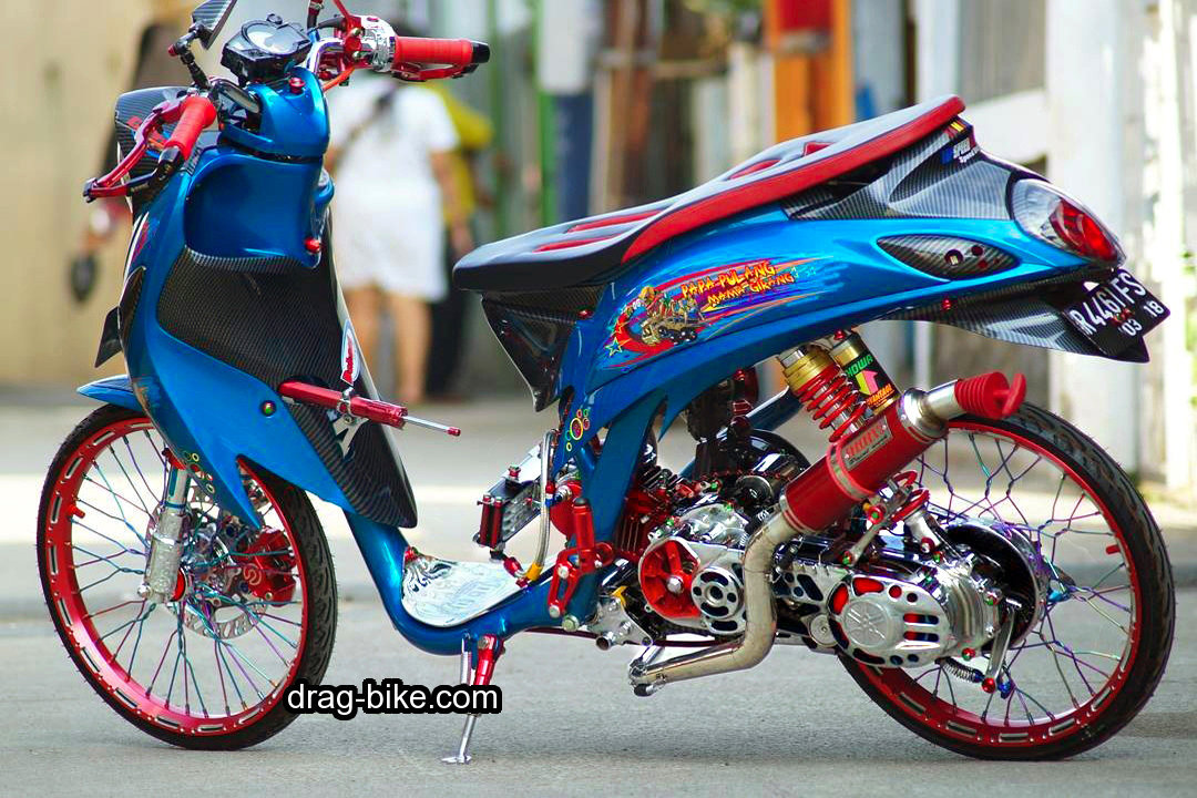 Modifikasi Fino Thailook Street Racing