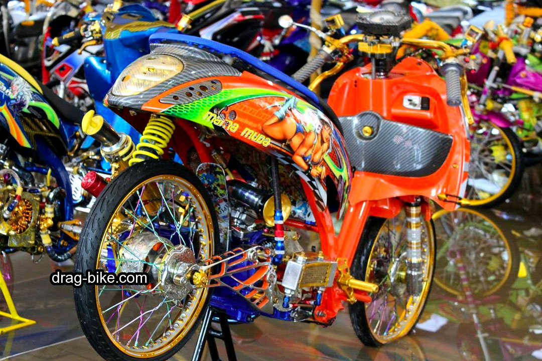Modifikasi Honda Scoopy Fi Velg 17