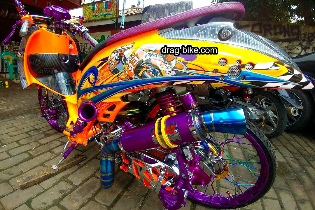Modifikasi Honda Scoopy Modif Airbrush